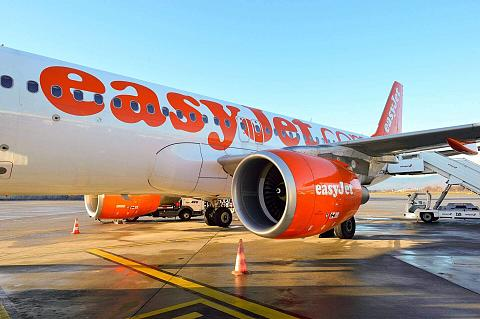 samolot easyJet na pasie startowym